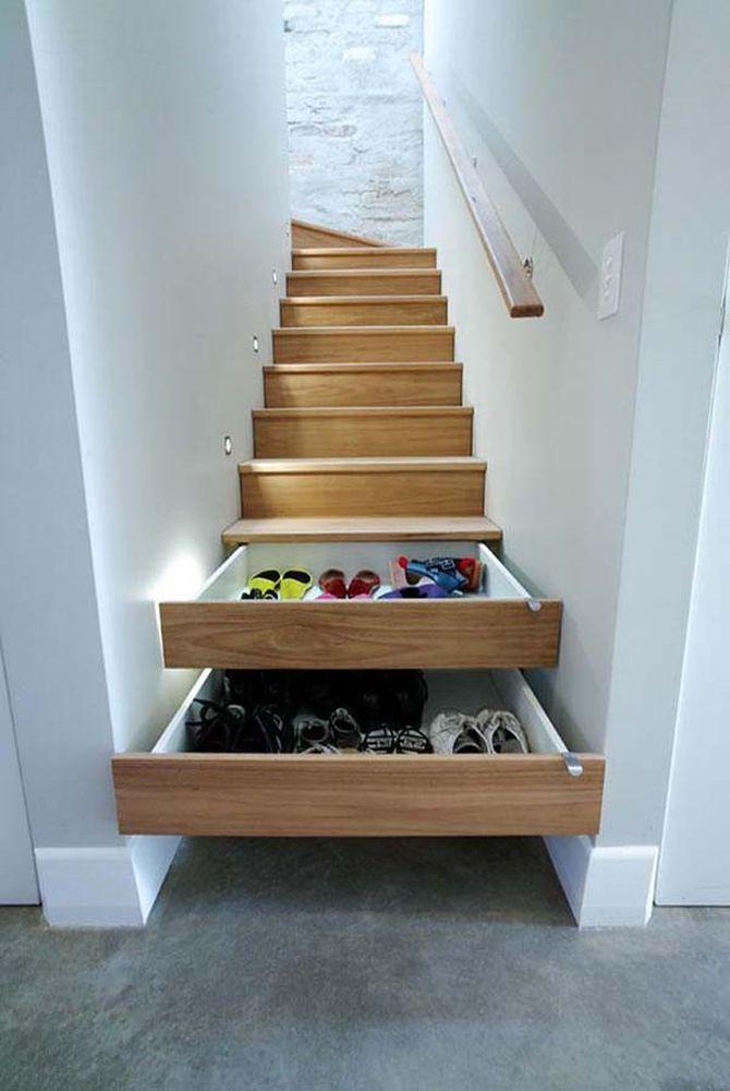 So eine treppe! aber wozu dienen die kleinen weißen absätze an den ...